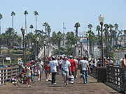Visitors to the Oceanside Pier