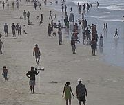 Crowded Beach, Oceanside, California