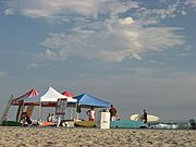Tents on the Beach in Oceanside, California