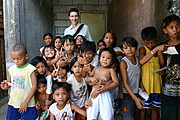 Chris and Poor Children in Siteo Pader in Balibago, Angeles, Pampanga, Philippines