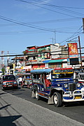 Typical Busy Street in the Angeles City, Philippines