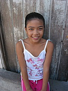Young Brown-Skinned Filipina Girl