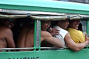 Men Riding in a Jeepney, Angeles City