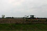 Tractor and Tiller in a Wisconsin Field