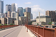 Minneapolis Skyline from the Stone Arch Bridge