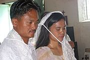 Couple Being Married in the Philippines