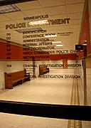 Entrance to the Minneapolis Police Department