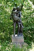 Statue of Nokomis and Hiawatha in Minnehaha Park