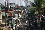 Chain of Shanties Alongside the Oldest Land Railway in Metro Manila Extending to South of Luzon.