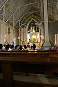 Inside a Church Sanctuary in Vigan, Ilocos Sur