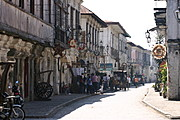 Cobblestone Lane and Historic Spanish Structures in Vigan, Ilocos Sur