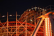 Mission Beach Roller Coaster at Night