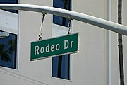 Sign for Rodeo Drive in Los Angeles