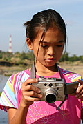 Ilocana Girl With Digital Camera