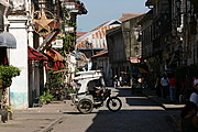 A Tricycle Passes the Street of Vigan, Ilocos Sur, Philippines