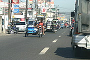Tricycles on the Main Highways of Carmen, Pangasinan, Philippines
