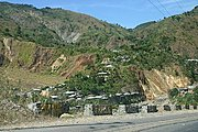 Mountainside Homes Seen While Traveling on Kennon Road in the Philippines