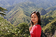 Woman Observing the Mountain Ranges of Baguio from Kennon Road