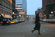 Woman Crossing an Intersection, Downtown Minneapolis