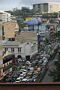 Overhead View of the Congested Harrison Road in Baguio City, Philippines