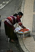 A Strawberry Vendor on Session Road in Baguio City, Philippines