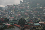 Beautiful Houses at the Hillside of Baguio City, the Philippines
