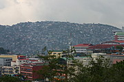 The Commercial District and Hillsides of Baguio City, the Philippines