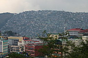 The Commercial District and the Hillside of Baguio City, the Philippines.