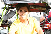 Filipino Tricycle Driver Waiting for a Fare
