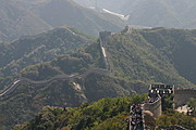 The Great Wall of China Winding Over the Backs of Mountains