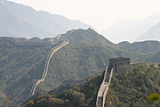 The Winding Great Wall and Mountains Near Beijing