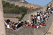 Crowd of People at the Badaling Great Wall