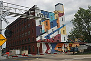 Expressionist Mural on the Side of Valspar Building, Minneapolis
