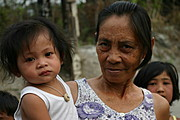 Filipina Grandmother and Grandchild in Angeles City, Pampanga