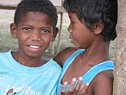 Two Different Looking Aeta Boys in Pampanga Village