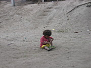 Aeta Child Playing Alone in Pampanga