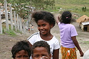 Young Aeta Girl with Windswept Hair