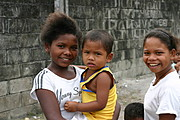 Young Aeta Girl Holding Brother