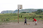 Boys Playing Basketball in Aeta Village
