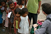 Chris Giving Out Candies in Aeta Village