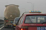 Vehicles en route to Beijing Capitol Airport