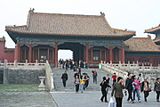 Tourists Visiting the Forbidden City, China