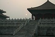 Stairs to the Hall of Complete Harmony at Sunset, Forbidden City, Beijing