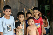 Filipino Children in a Vulcanizing Shop in Bacoor, Cavite