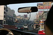 Driving along Busy Street in Manila
