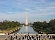 The Washington Monument and Reflecting Pool in Washington, DC