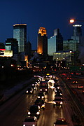 Downtown Minneapolis Skyline at Dusk