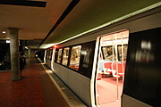 Washington, D.C. Metrorail Train at a Subway Station