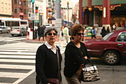 Two Female Pedestrians Walking in Washington, D.C.'s Chinatown