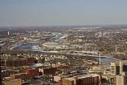 Aerial View of Northeast Minneapolis in Winter